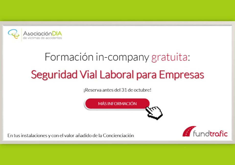 Formación gratuita en Seguridad Vial para empresas Fundtrafic