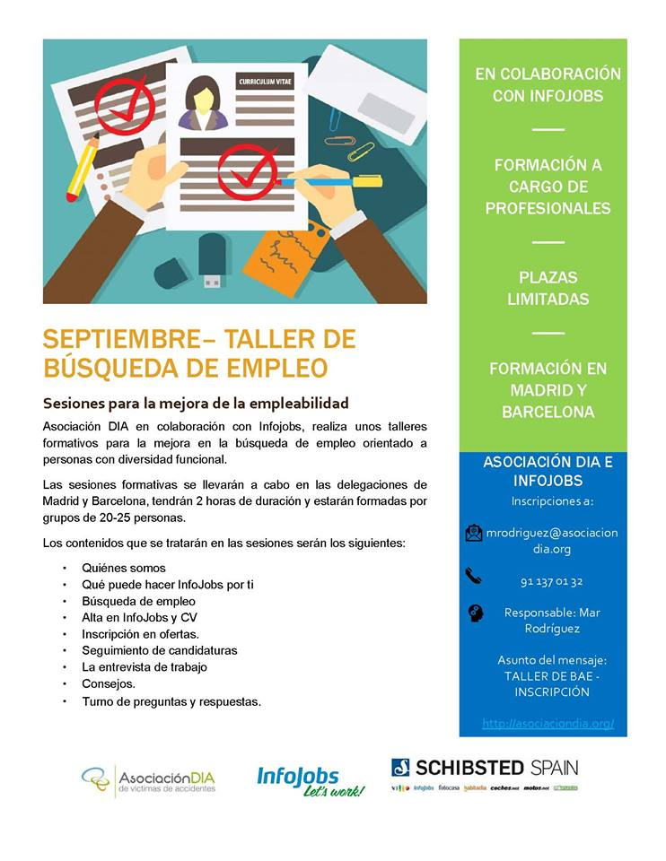 Taller de búsqueda de empleo - Asociación DIA SEPTIEMBRE 2017
