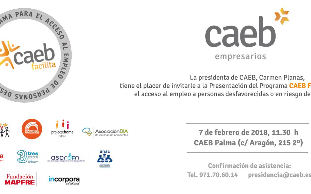 Asociación DIA colabora con 'CAEB facilita': Programa para favorecer el acceso al empleo de personas desfavorecidas