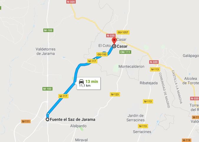 Accidente Fuente del Saz de Jarama 16-01-18 carreteras peligrosas