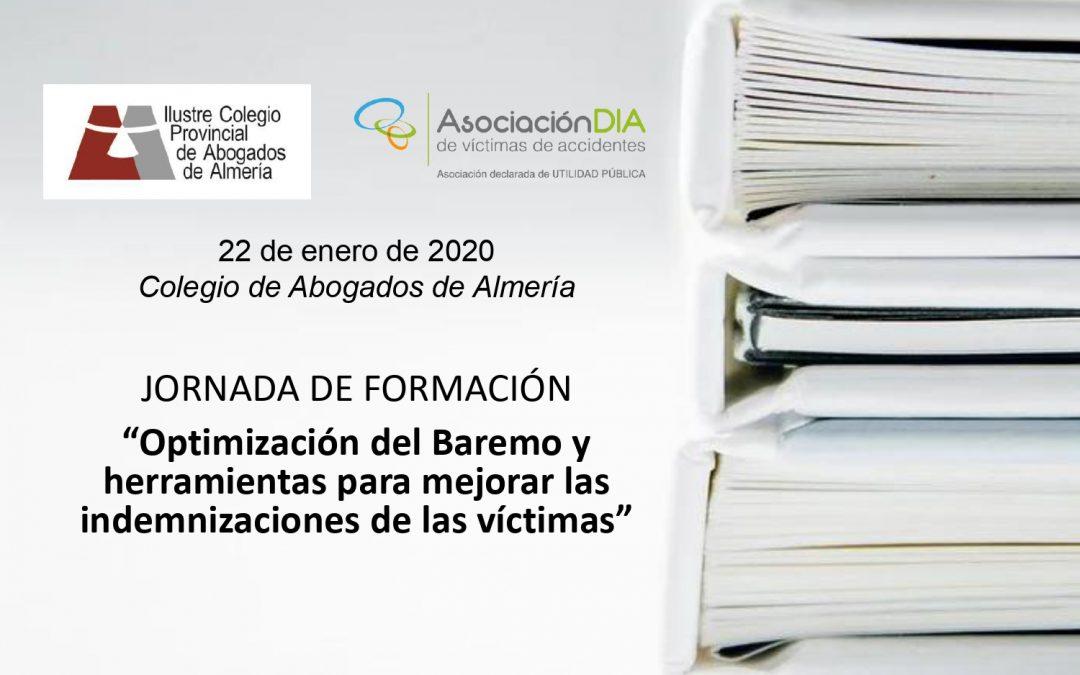 Próxima formación sobre el Baremo en el Colegio de Abogados de Almería
