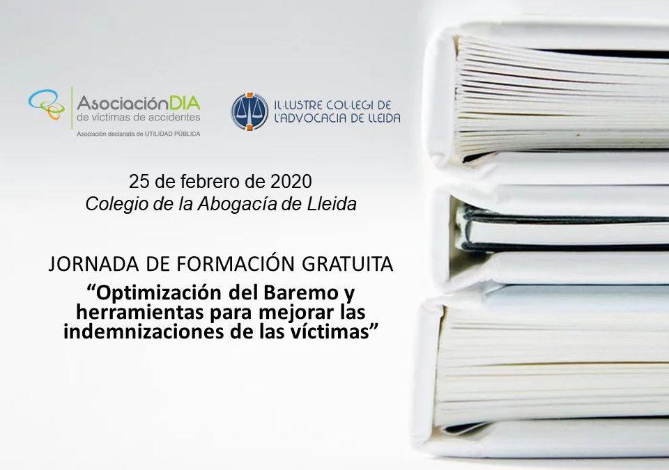 Próxima formación gratuita sobre el Baremo en el Colegio de la Abogacía de Lleida
