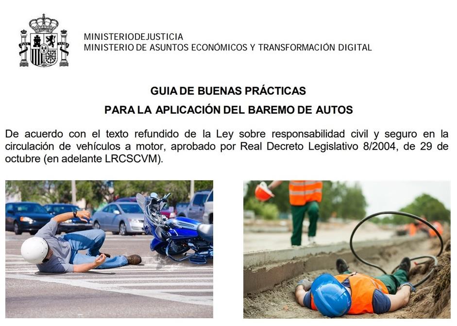Actualización «superflua» de la Guía de buenas prácticas para la aplicación del baremo de autos