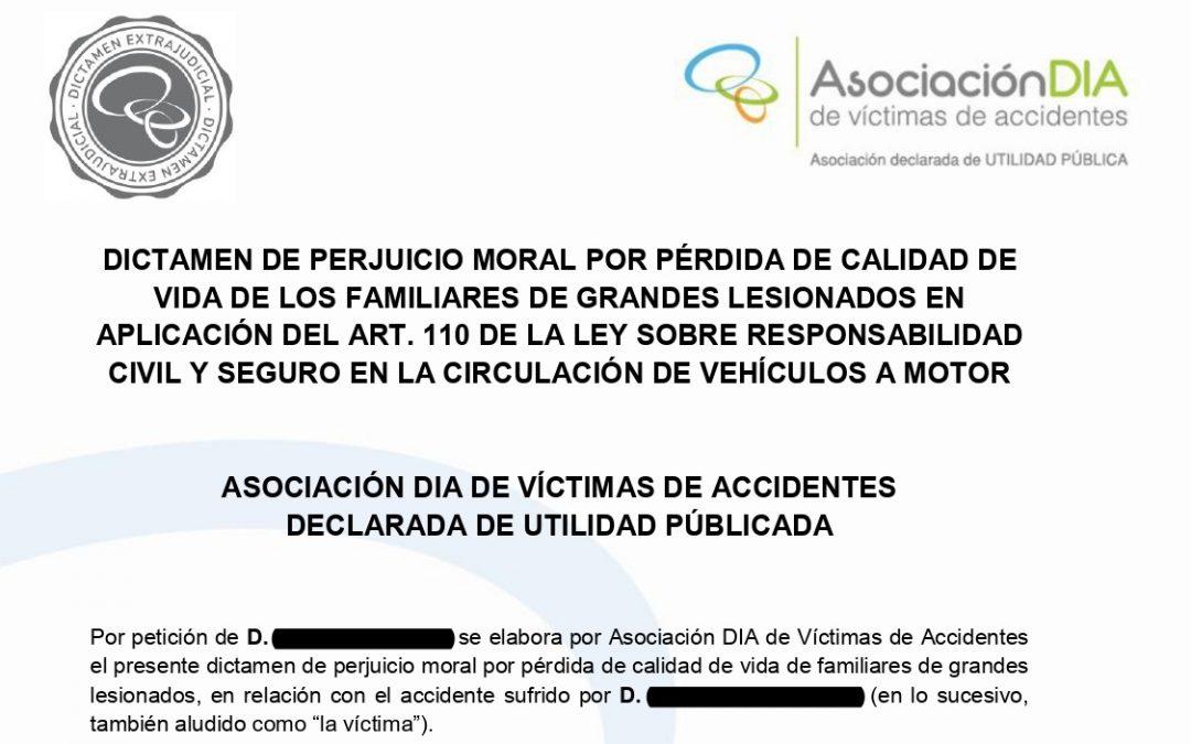 Ejemplo PRÁCTICO: Dictamen de Perjuicio Moral por Pérdida de Calidad de Vida de Familiares de grandes lesionados