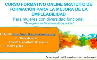 Nuevo curso formativo online gratuito para mujeres con diversidad funcional